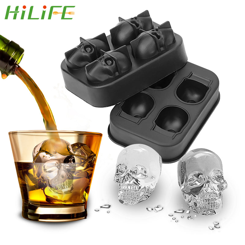Skull Shape Chocolate Mould Ice Tray