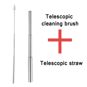 Stainless Steel Telescopic Drinking Portable Straw