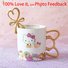 Load image into Gallery viewer, Top Grade Kitty Creative Ceramic Coffee Mug With Spoon