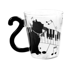 Load image into Gallery viewer, Cute Cats Glass Lovely Handle Mug Cup