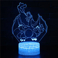 Load image into Gallery viewer, Pikachu LED Table Lamp Illusion Night Light