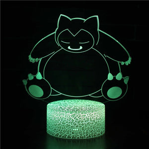 Pikachu LED Table Lamp Illusion Night Light