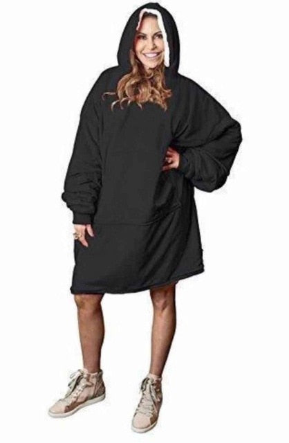 Over-sized Blanket Sweatshirt