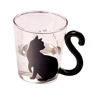 Cute Cats Glass Lovely Handle Mug Cup