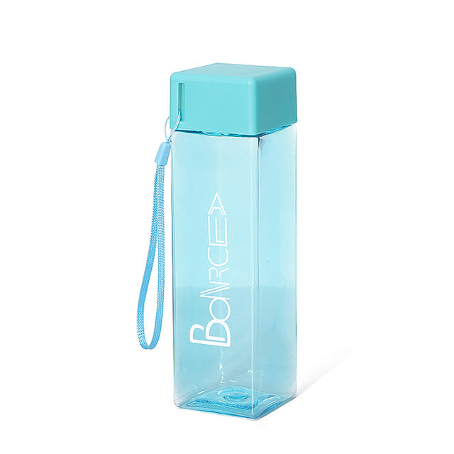 Cute Square Tea Milk Fruit Travel Water Bottle