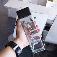 Load image into Gallery viewer, Cute Square Tea Milk Fruit Travel Water Bottle