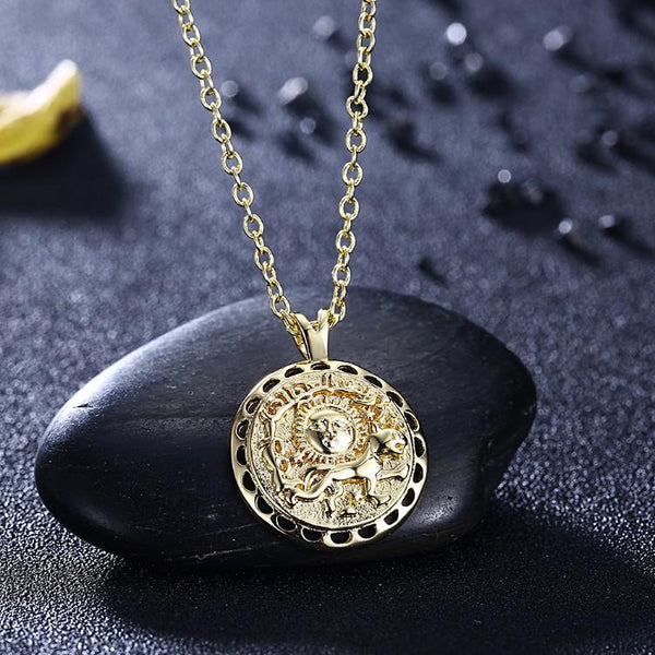 The Power of Sun Necklace in 18K Gold Plated