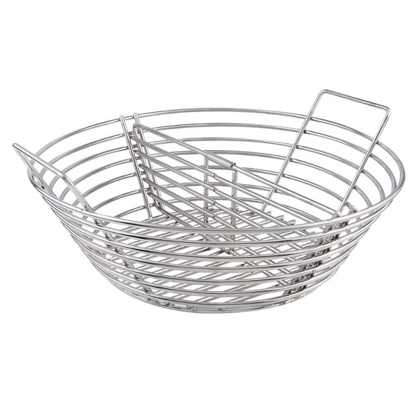 Mydracas Lump Charcoal Fire Basket with Divider Big Green Egg Accessories,Stainless Steel Grill Ash Baskets for The Large Big Green Egg,Kamado Joe Classic