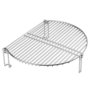 "Mydracas Grill Expander Rack Stack Rack for Big Green Egg Stainless Steel BBQ Lover Gifts Fit Large & XL Big Green Egg, Kamado Joe,18"" or Bigger Diameter Grill,Increase Grilling Surface - mydracas"