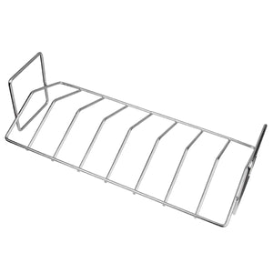 Mydracas BBQ Rib Roast V-Rack Stainless Steel,Big Green Egg Accessories Replacement Dual Purpose Grilling Tools Smoker Rib Rack Big Green Egg Rib Rack fit for Big Green Egg and Kamado Joe - mydracas