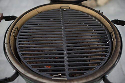 "Mydracas 18"" Cast Iron Cooking Grate Grids Round Accessories for Large Big Green Egg,Kamado Joe Classic Vision Grill VGKSS-CC2,B-11N1A1-Y2A Any 18"" Grill - mydracas"