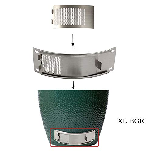 Mydracas Metal Punched XLarge Big Green Egg Mesh Screen Panel,Big Green Egg Parts Stainless Steel Draft Door Mesh Vent Screen BGE Grill Replacement Green Egg Accessories Fits XLarge Big Green Egg - mydracas