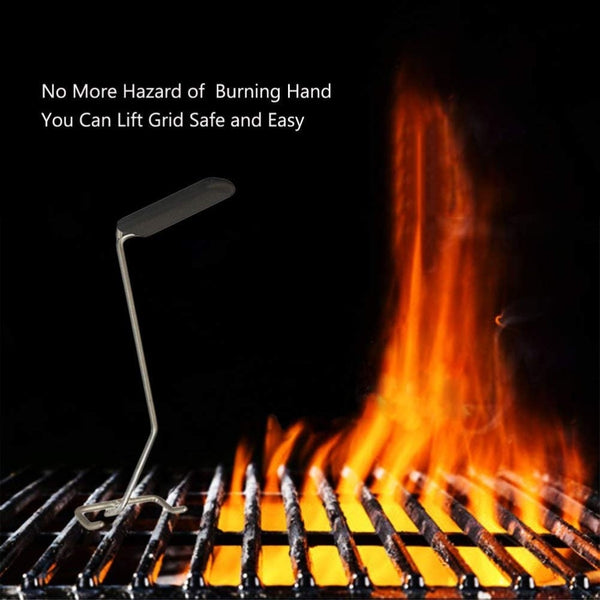 Dracarys BBQ Grate Lifter And Cast Iron Grid Lifter Charcoal Grill Grate Lifter BGE Kamado Joe Weber Primo Pit Boss Vision - mydracas