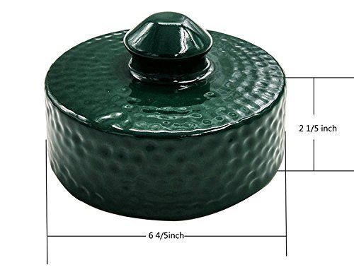 Dracarys NEW Grill Chimney Top Vent Cap Ceramic Damper Top Big Green Egg Accessories - mydracas