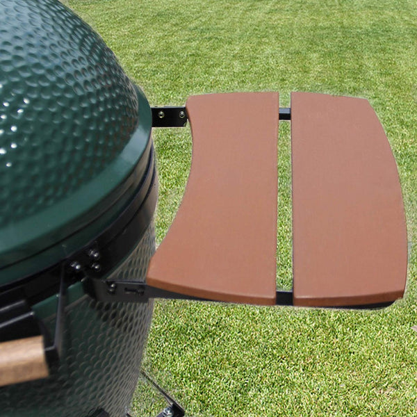 Dracarys Big Green Egg Side Shelves Outdoor Storage Side Table for Medium BGE Egg Mates Composite 2 Slat Kamado Grill Accessorie - mydracas