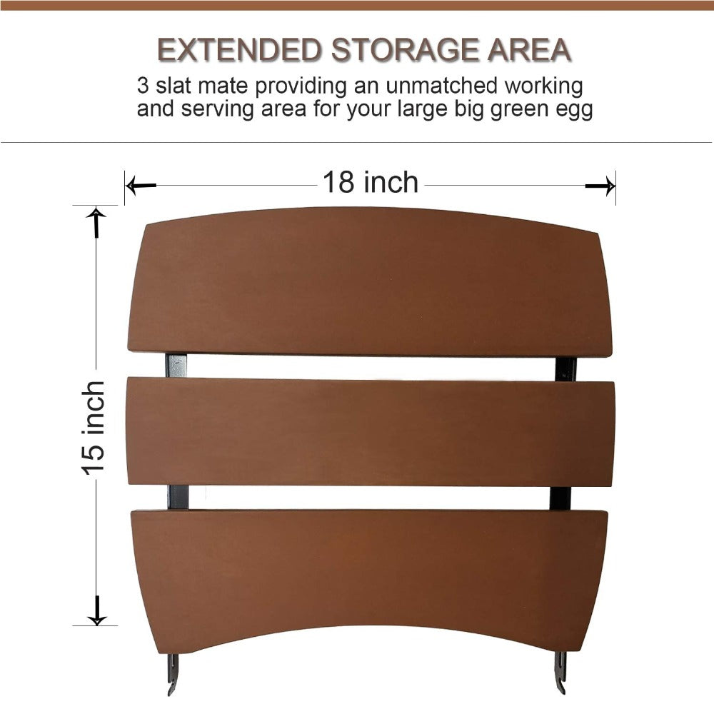 Amazing Dracarys 3 Slat Big Green Egg Side Shelves For Large Bge Egg Complete Home Design Collection Barbaintelli Responsecom