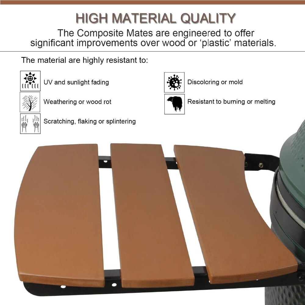 Brilliant Dracarys 3 Slat Big Green Egg Side Shelves For Large Bge Egg Mates Outdoor Storage Table Composite Kamado Grill Accessories Hdpe Home Remodeling Inspirations Genioncuboardxyz