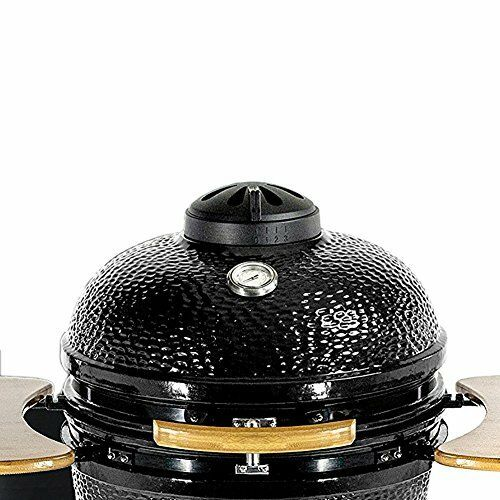 Dracarys charcoal Kamado cast iron top vent chimney (18in) - mydracas