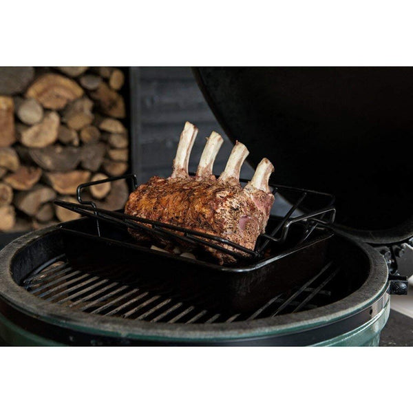 Dracarys Porcelain Coated Steel Roasting Stand BBQ Rib Roast Rack for Smoking - mydracas