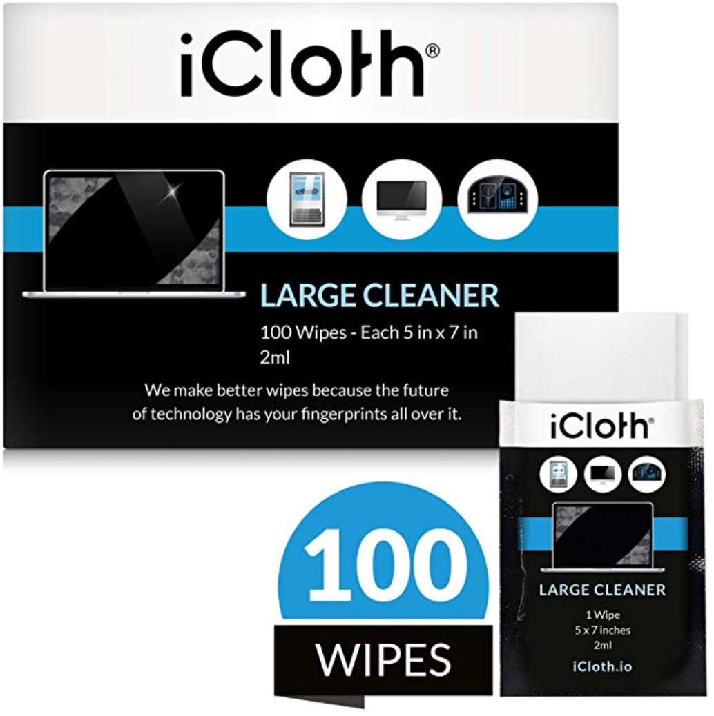 iCA100 iCloth Large, Individually Wrapped, Box of 100