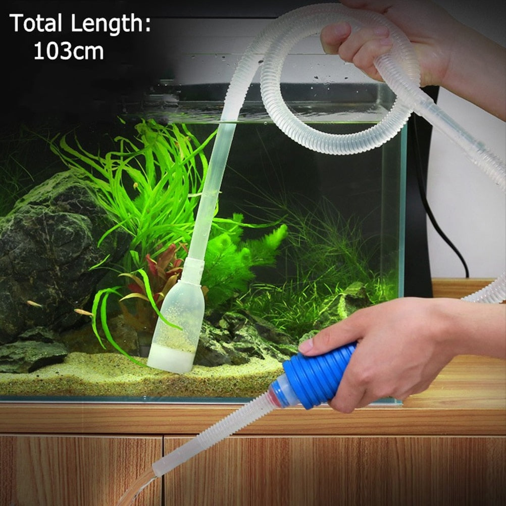 1PCS Unique 103cm Siphon Gravel Suction Pipe Filter Fish Tank Vacuum Water Change Pump Aquarium Manual Cleaner Tool