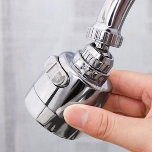 Innovative Kitchen Faucet ABS + Stainless Steel Splash-Proof Universal Tap Shower Water Rotatable Filter Sprayer Nozzle