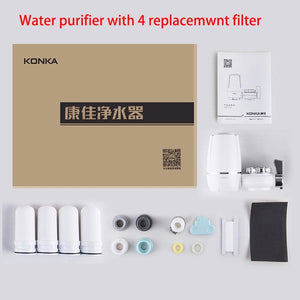Mini Tap Water Purifier Kitchen Faucet Washable Ceramic Percolator Water Filter Filtro Rust Bacteria Removal Replacement