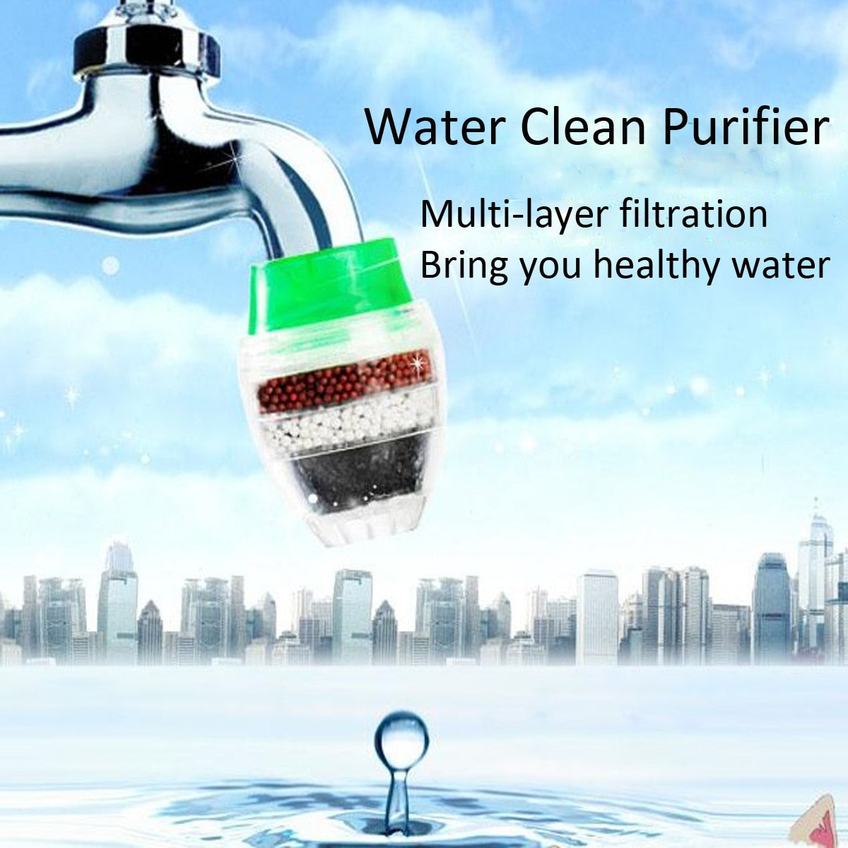1Pc Household Kitchen Home Carbon Faucet Mini Tap Water Clean Filter Purifier Filtration Cartridge 21-23mm Carbon Water Filter