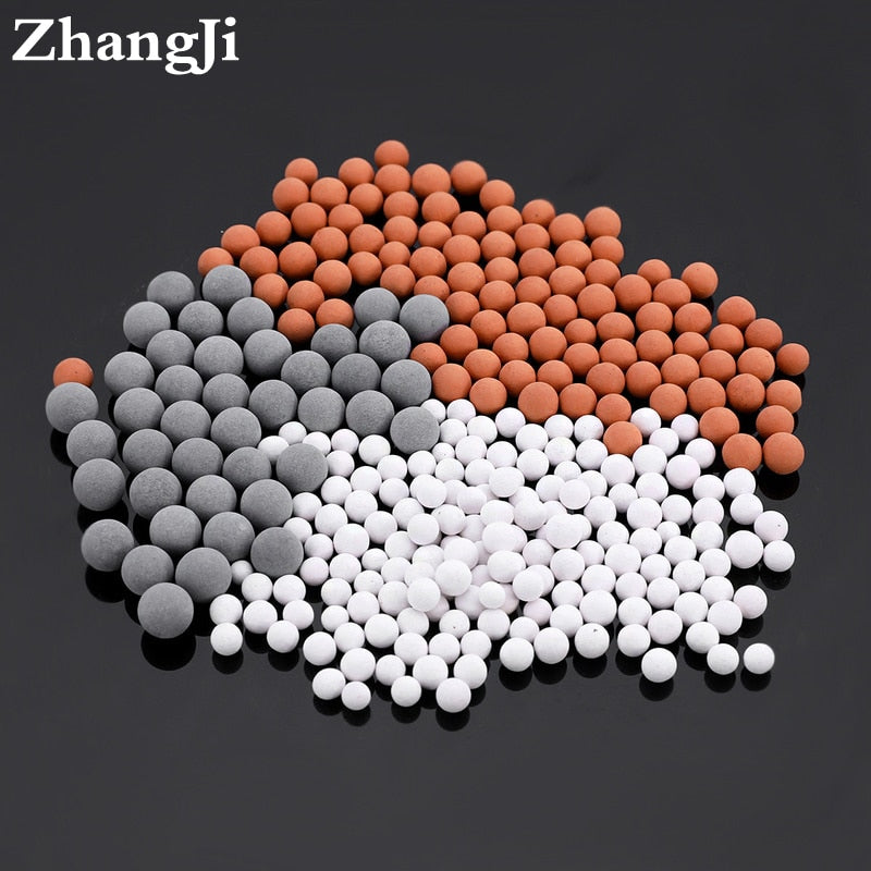 Shower Head Replacement Beads Filter Energy Anion Mineralized Negative Ions Ceramic Balls Water Purification Bathroom Accessory