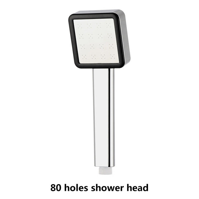 VEHHE High Pressure Rainfall Shower Head Water Saving Filter ABS Chrome Spray Powerful Nozzle 300 Holes Panel Bathroom Accessory