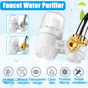 Kitchen Tap Faucet Water Filter Purifier - Activated Carbon Washable Ceramic Percolator - Reduce Chlorine, Odor, Contaminants