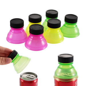 1/3/6Pcs Soda Saver Pop Beer Beverage Can Cap Flip Bottle Top Lid Protector Snap On Cup Cover Water Dispenser insulated