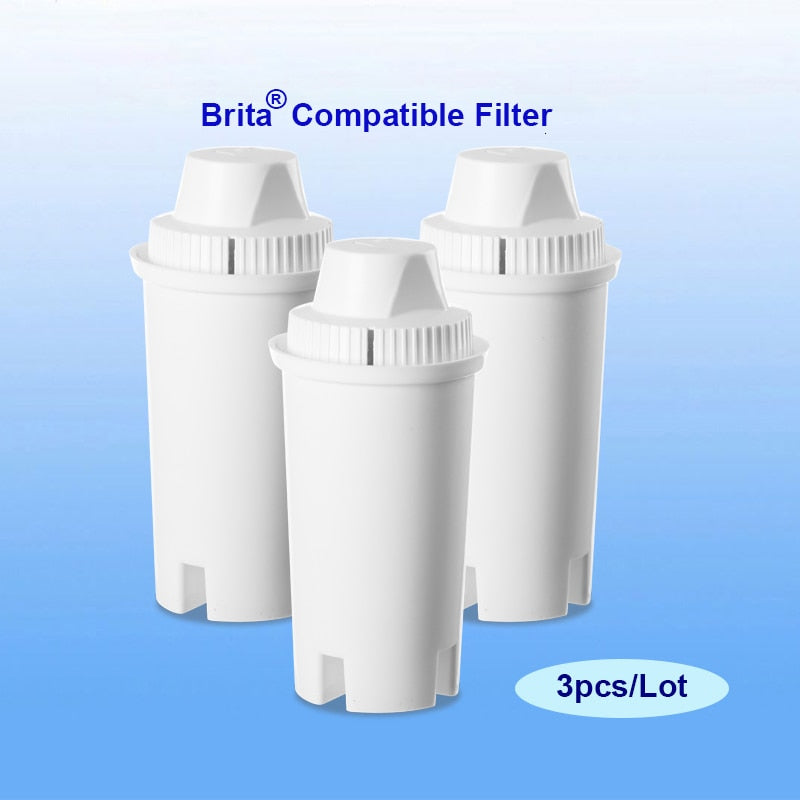 3pcs/Lot Replacement Filter Cartridges for Brita Classic Filter Pitcher contains minerals healthy alkaline ionized water filters