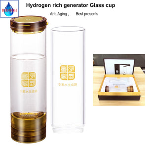 Japanese SPE H2 Hydrogen rich generator water Ionizer 600ML Anti-Aging USB Rechargeable Portable Healthy Cup IHOOOH maker