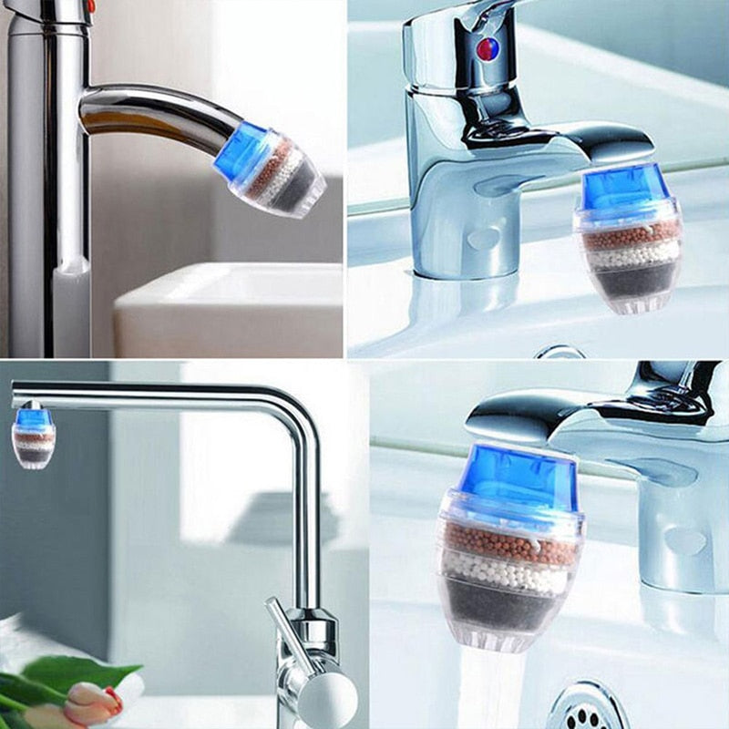 LUCOG 1pcs Mini Kitchen Faucet Tap Water Purifier Home Accessories Water Clean Purifier Filter with Filtration Cartridge 16-19mm