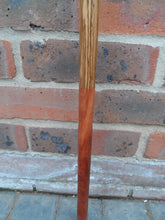 Load image into Gallery viewer, A Brass Skull Handle Walking Stick on a Bubinga, Olive and Zebrano Wood Shank.
