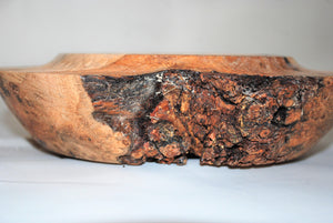 Hand Turned and Carved Oak Burr Bowl.