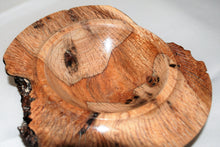 Load image into Gallery viewer, Hand Turned and Carved Oak Burr Bowl.
