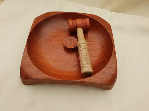 A Nut Bowl with Gavel Style Nut Cracker Unique and Stylish