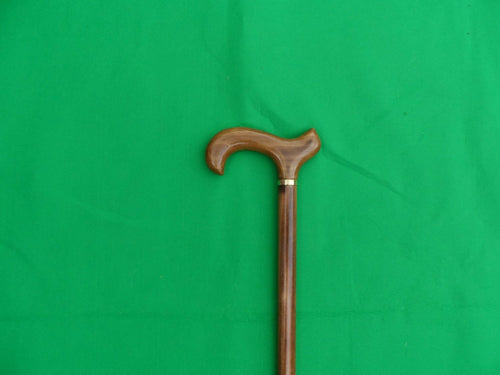 Hand carved Derby handle walking Stick.