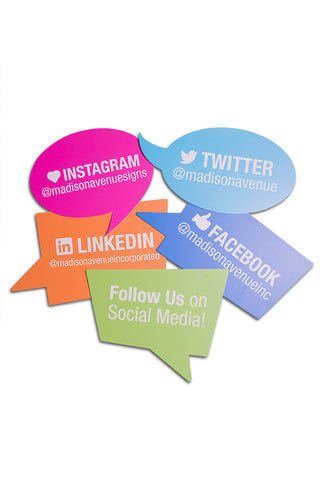 Social Media Sign Bundle