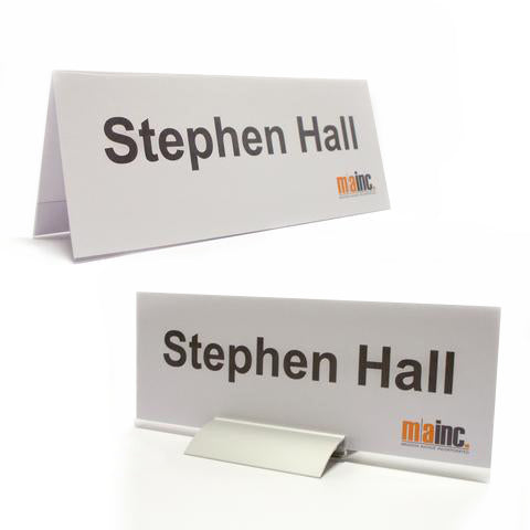 Reusable Table Tents: A-Frame & Pro