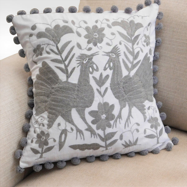 Hand Embroidered Cushion Tenango