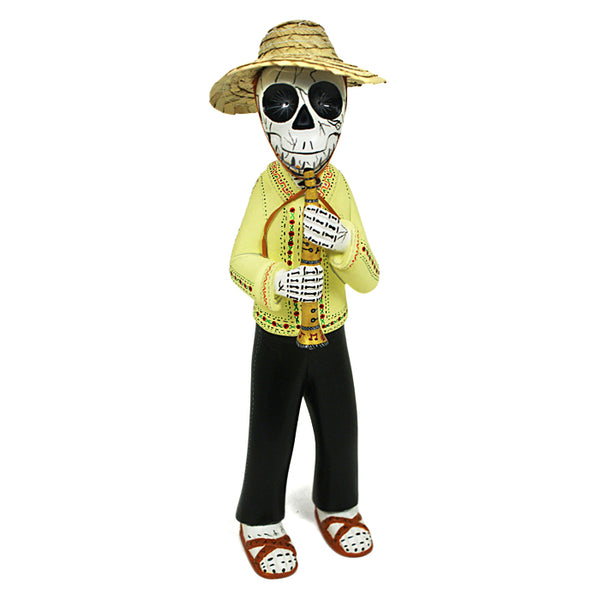 Agustin Roque: Skeleton with Flute