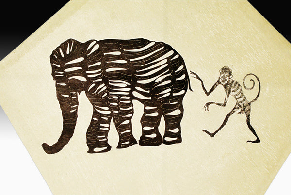 Francisco Toledo: Paper Art Kite  Elephant & Monkey