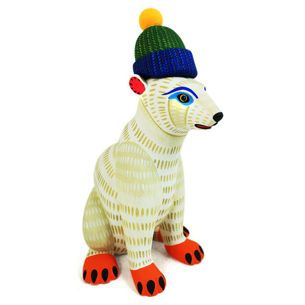 Luis Pablo: Polar Bear with Knitted Beanie