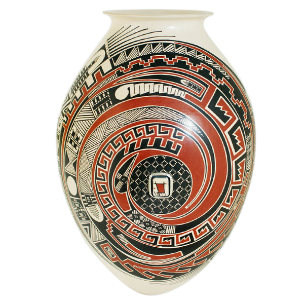 Miguel Quezada: Olla With Silver Inlay