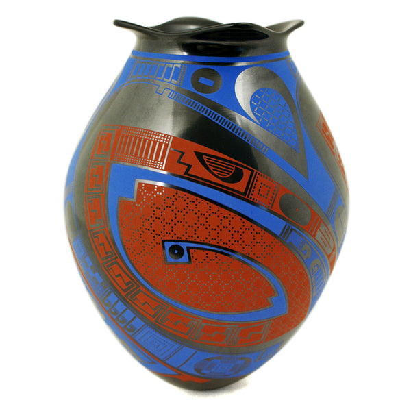 Gerardo Pedregon: Red and Blue Olla