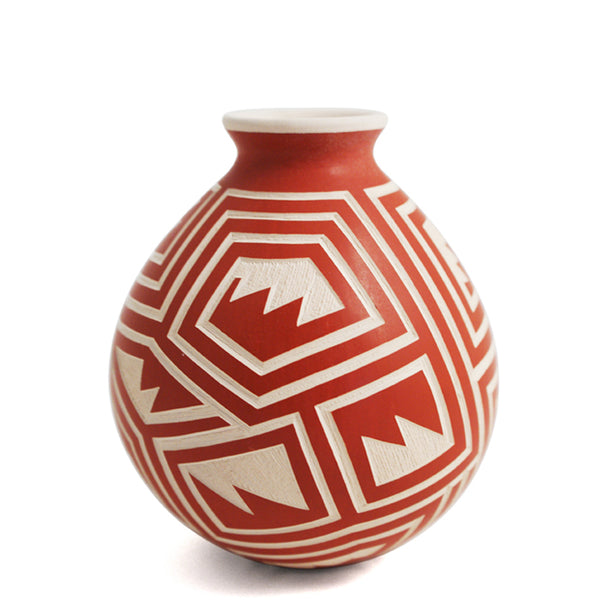Eduardo Olivas: White and Red Olla