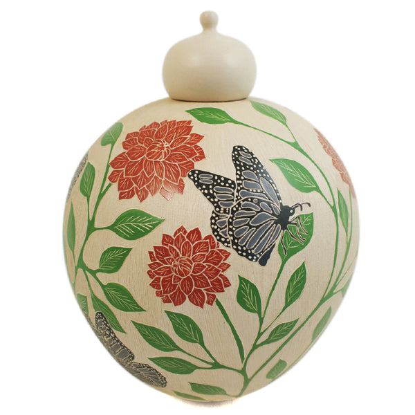 Martin Corona: Butterflies & Flowers Lidded Beauty